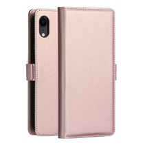 Dzgogo Booktype Hoesje iPhone Xr - Roze / Goud