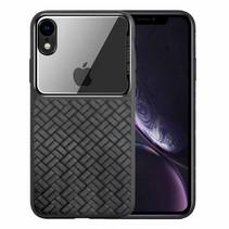 Nxe Gevlochten Hybrid Hoesje iPhone Xr - Zwart