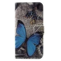 Blauwe Vlinder Booktype Hoesje iPhone XS