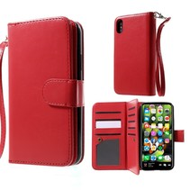 Booktype Hoesje iPhone XS - Rood