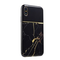 Sulada Marmer TPU Hoesje iPhone XS - Zwart