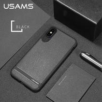 Usams Litchee TPU Hoesje iPhone XS - Zwart