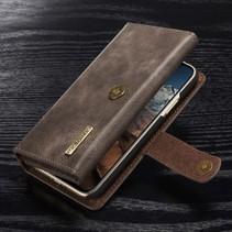 Dg.Ming Booktype Hoesje iPhone XS - Grijs