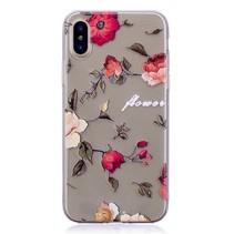 Bloemen TPU Hoesje iPhone XS