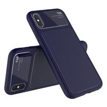 Lenuo TPU Hoesje iPhone XS - Donker Blauw