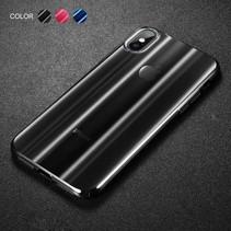 Baseus Hardcase Hoesje iPhone XS - Transparant Zwart