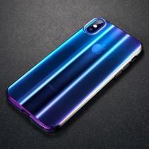 Baseus Hardcase Hoesje iPhone XS - Transparant Blauw