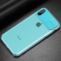 Baseus TPU Hoesje iPhone XS - Cyaan