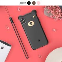 Baseus siliconen Hoesje iPhone XS - Zwart