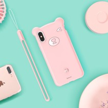 Baseus siliconen Hoesje iPhone XS - Roze