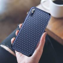 Baseus Hardcase Hoesje iPhone XS - Blauw