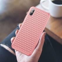 Baseus Hardcase Hoesje iPhone XS - Roze