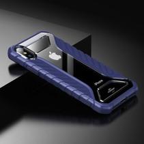 Baseus Hybrid Hoesje iPhone XS - Blauw