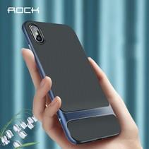 Rock Hybrid Hoesje iPhone XS - Blauw