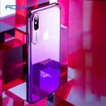 Rock Hardcase Hoesje iPhone XS - Paars