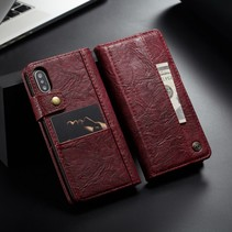 Caseme Booktype Hoesje iPhone XS - Rood