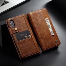 Caseme Booktype Hoesje iPhone XS - Bruin