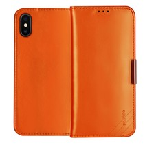 Dzgogo Booktype Hoesje iPhone XS - Oranje