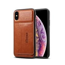 Hybrid Hoesje iPhone XS - Bruin