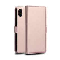 Dzgogo Booktype Hoesje iPhone XS - Roze / Goud