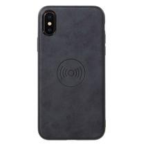 Lederen Backcover Hoesje iPhone XS - Grijs