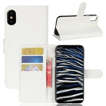 Litchee Booktype Hoesje iPhone XS - Wit