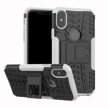 Hybrid Hoesje iPhone XS - Wit