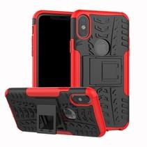 Hybrid Hoesje iPhone XS - Rood