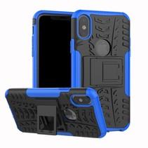 Hybrid Hoesje iPhone XS - Blauw