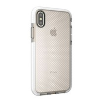 TPU Hoesje iPhone XS - Transparant / Wit