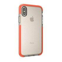 TPU Hoesje iPhone XS - Transparant / Oranje