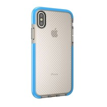 TPU Hoesje iPhone XS - Transparant / Blauw