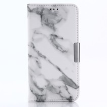Marmer Booktype Hoesje iPhone XS - Wit