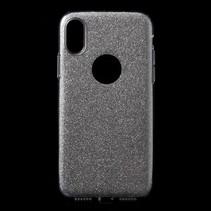 Hybrid Hoesje iPhone XS - Zilver