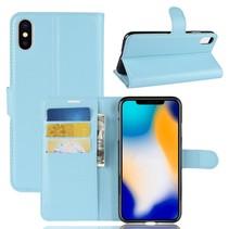 Litchee Booktype Hoesje iPhone XS Max - Blauw
