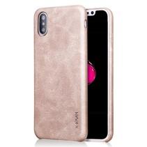 X-level Hardcase Hoesje iPhone XS Max - Goud