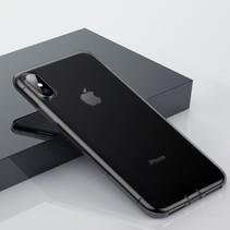 Baseus TPU Hoesje iPhone XS Max - Transparant Zwart