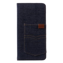 Jeans Booktype Hoesje iPhone XS Max - Donker Blauw