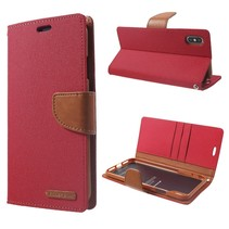Mercury Goospery Booktype Hoesje iPhone XS Max - Rood