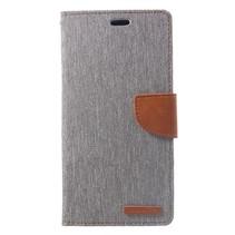 Mercury Goospery Booktype Hoesje iPhone XS Max - Grijs
