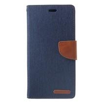 Mercury Goospery Booktype Hoesje iPhone XS Max - Donker Blauw