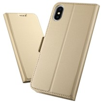 Booktype Hoesje iPhone XS Max - Goud
