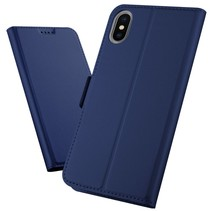 Booktype Hoesje iPhone XS Max - Donker Blauw