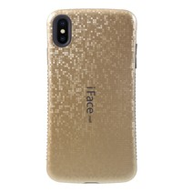 Iface Mall Mozaiek Hybrid Hoesje iPhone XS Max - Goud