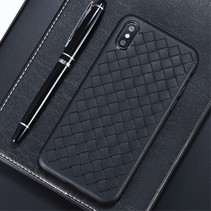 Benks Gevlochten TPU Hoesje iPhone XS Max - Zwart