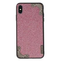 Dlons Glitters Hybrid Hoesje iPhone XS Max - Roze