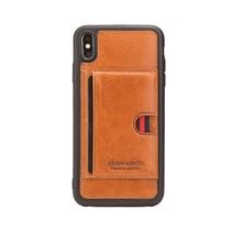 Pierre Cardin Lederen Backcover Hoesje iPhone XS Max - Bruin