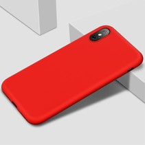 X-level siliconen Hoesje iPhone XS Max - Rood