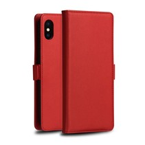 Dzgogo Booktype Hoesje iPhone XS Max - Rood
