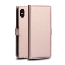 Dzgogo Booktype Hoesje iPhone XS Max - Roze / Goud